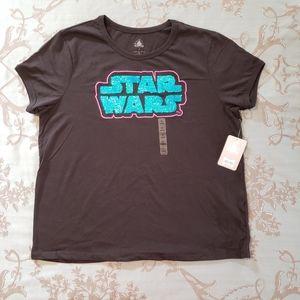 Disney Star Wars Women's Sequin Flip Tee Shirt